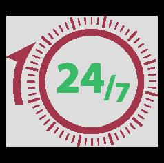 24/7 ikona | Cilmes šūnu banku alianse | LYL BioBank Hearts